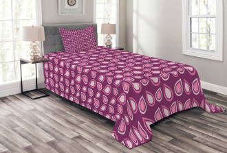 Heart Like Leaves Swirls Bedspread Set