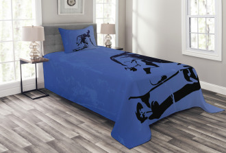 Abstract Vector Skaters Bedspread Set