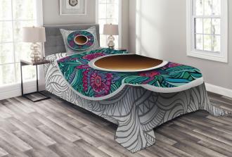 Coffee and Herbal Tea Bedspread Set