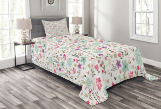 Country Nature Leaf Bedspread Set