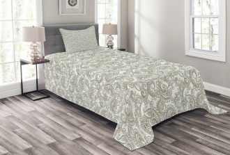 Damask with Ethnic Bedspread Set