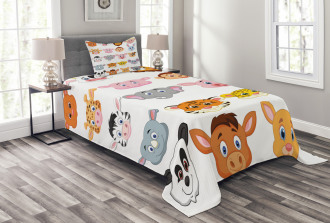 Farm Safari Animals Kid Bedspread Set