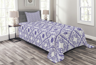 Art and Craft Flower Bedspread Set
