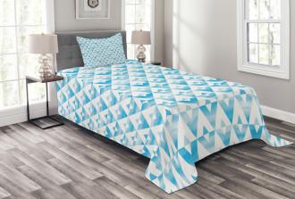 Geometric Shape Triangle Bedspread Set