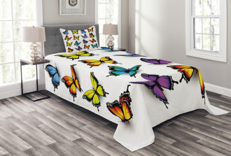 Colorful Wings Spring Bedspread Set