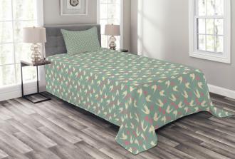 Birds Little Hearts Bedspread Set