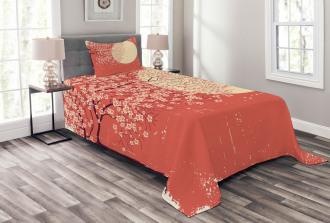 Cherry Sakura Blossoms Bedspread Set