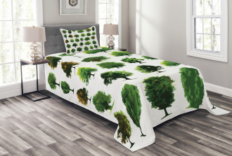 Pines Planes Bushes Tree Bedspread Set