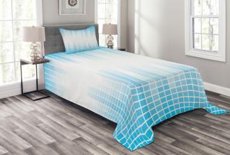 Geometric Squared Design Bedspread Set