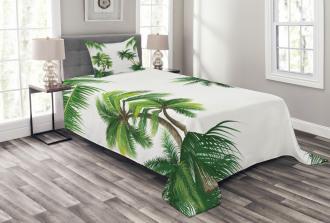 Coconut Palm Tree Plants Bedspread Set