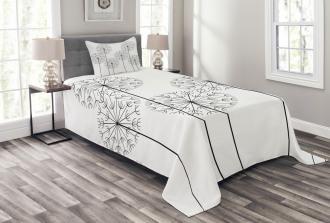 Digital Flower Dandelion Bedspread Set