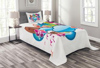 Season Hot Beach Vbes Bedspread Set