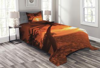 Twilight Coconut Palms Bedspread Set