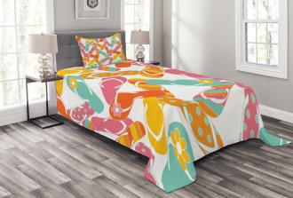 Summer Holiday Sandals Bedspread Set