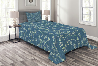 Twiggy Spring Petal Blue Bedspread Set