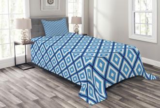 Geometric Diamond Form Bedspread Set
