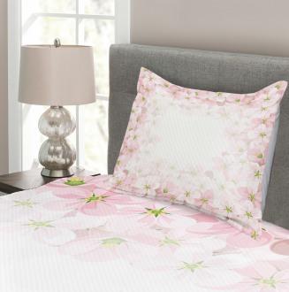 Flower Petals Blooms Bedspread Set