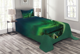 Wooden House Winter Bedspread Set