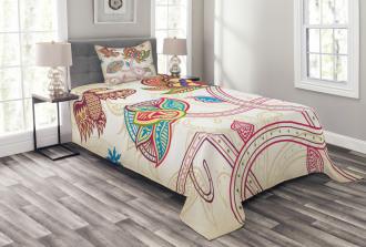 Flower Petal Shabby Chic Bedspread Set