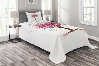 Blossom Buds Sakura Tree Bedspread Set