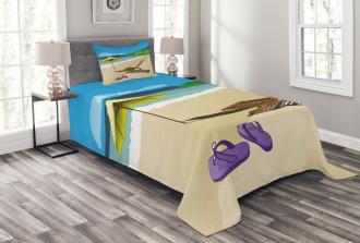 Sunshine Sand Waves Bedspread Set