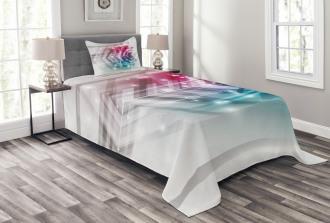 Futuristic Geometric Bedspread Set