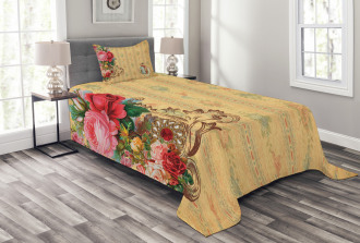 Romantic Country Roses Bedspread Set