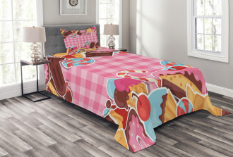 Candy Cookie Sugar Cake Bedspread Set