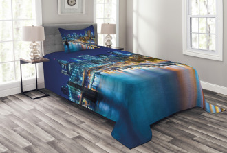 View of New York City Bedspread Set