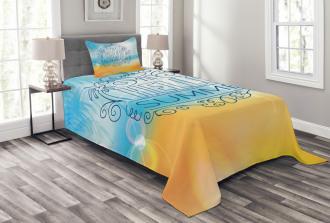 Abstract Sunny Seashore Bedspread Set