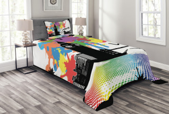 Colorful London City View Bedspread Set