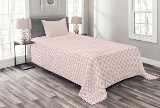 Squares Polka Dots Bedspread Set