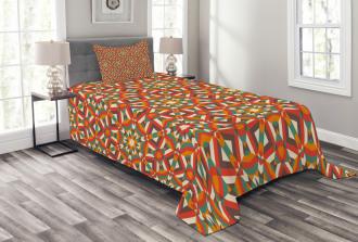 Ethnic Damask Floral Bedspread Set