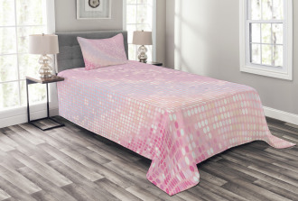 Abstract Disco Ball Pattern Bedspread Set