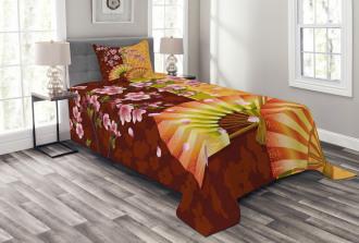 Sakura Blossoms Asian Bedspread Set