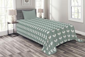 Baroque Tulip Branches Bedspread Set