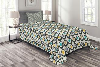 Bold Circles Polka Dots Bedspread Set