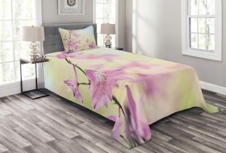 Larkspur Petals Summer Bedspread Set