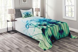 Floral Dandelion Arrangement Bedspread Set