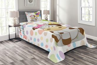 Baby Cow and Balloons Bedspread Set