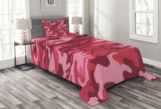 Camo Texture Autumn Theme Bedspread Set