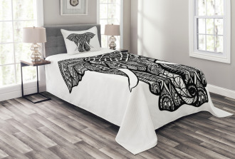 Native Totem Bedspread Set