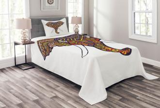 Tribal Colored Bedspread Set
