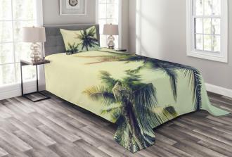 Caribbean Coastline Ocean Bedspread Set