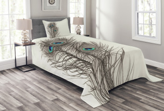 Feathers of Exotic Bird Bedspread Set
