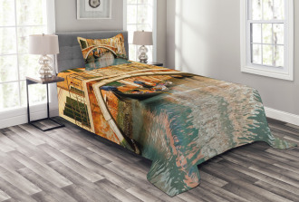 Ancient Bridge Gondola Bedspread Set