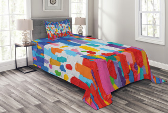 Colorful Abstract Painting Bedspread Set