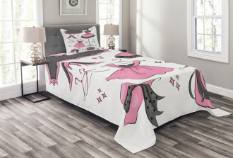 Cartoon Style Bedspread Set