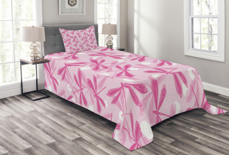 Vibrant Wings Insect Bedspread Set