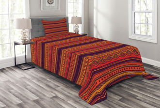 Abstract Ethno Doodle Bedspread Set